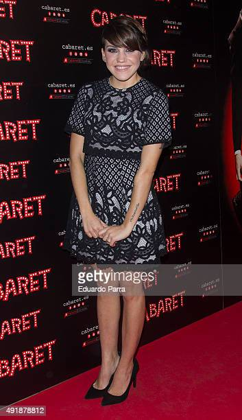 Actress Angy Fernandez attends the'Cabaret Broadway Musical' photocall at Rialto theatre on October 8 2015 in Madrid Spain