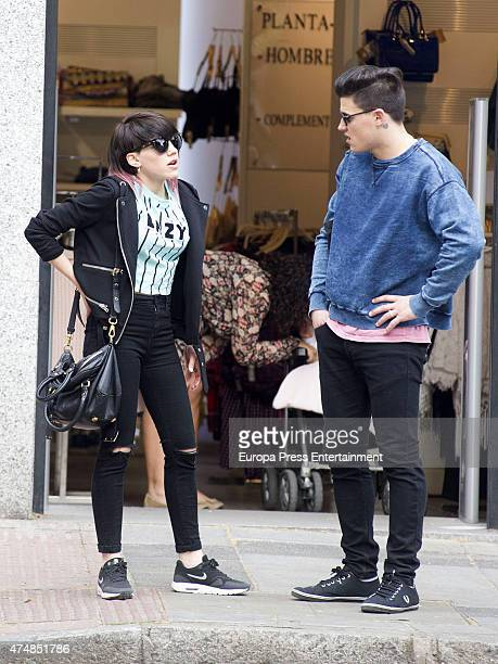 Actress Angy Fernandez is seen on April 15 2015 in Madrid Spain