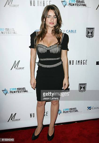 Actress Ania Bukstein attends the Israeli Film Festival Gala Awards Dinner at the Beverly Hilton Hotel on June 11 2008 in Beverly Hills California