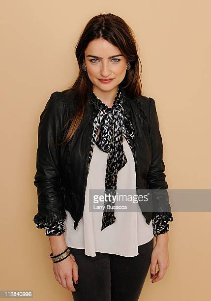 Actress Ania Bukstein visits the Tribeca Film Festival 2011 portrait studio on April 22 2011 in New York City