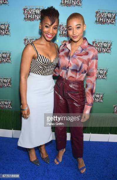 Actress Anika Noni Rose and actress Amandla Stenberg attend Everything Everything Screening and Brunch at W Hotel Atlanta Midtown on April 23 2017 in...