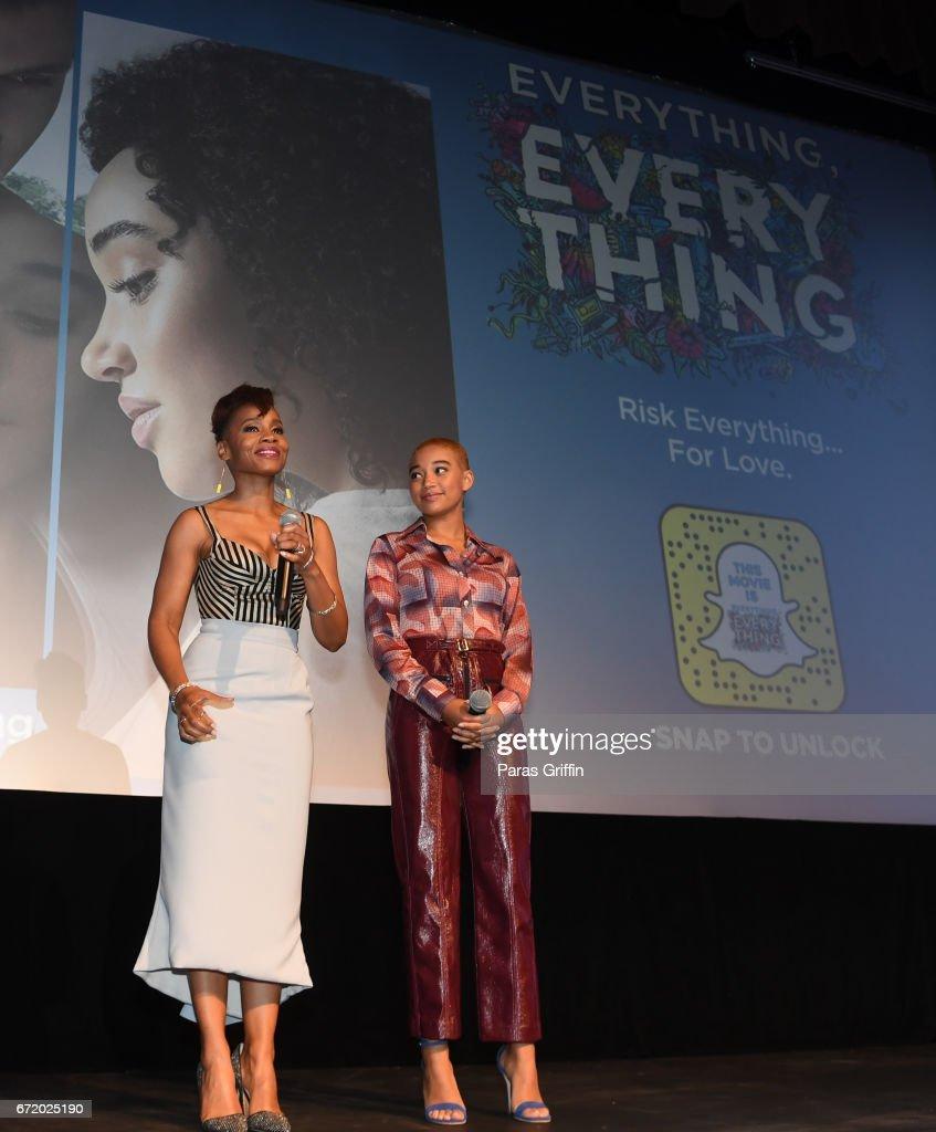 Atlanta Junket For The New Warner Bros. Movie EVERYTHING, EVERYTHING : News Photo