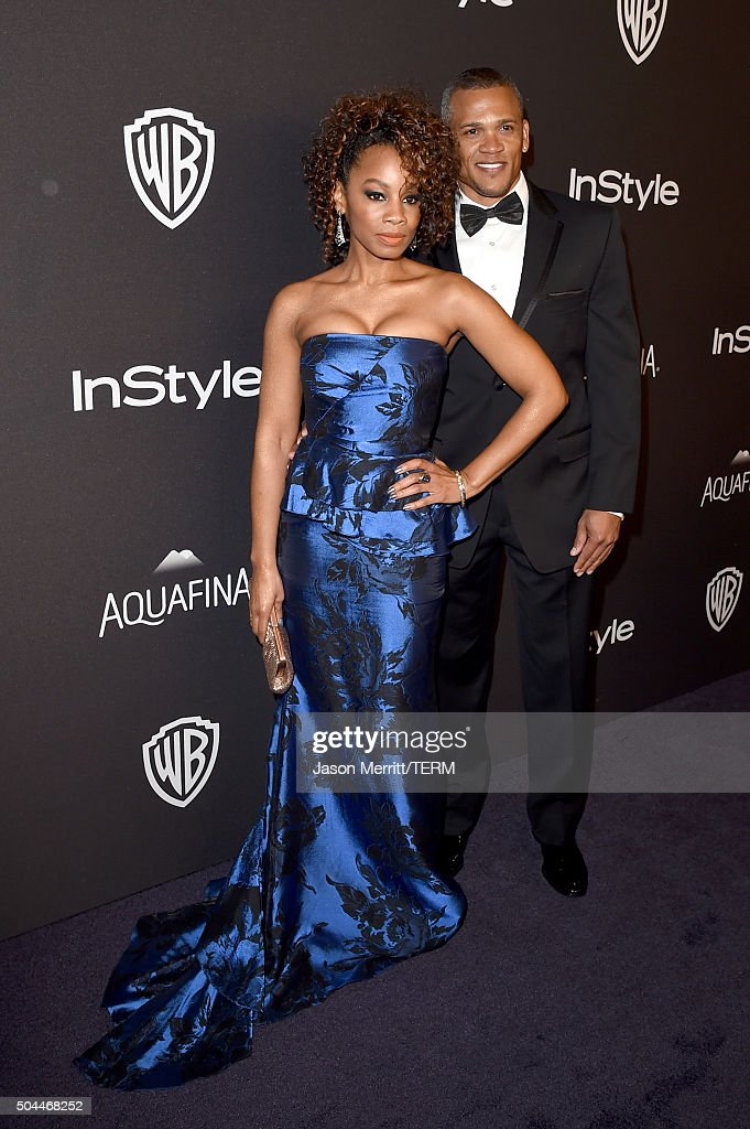 Actress Anika Noni Rose (L) and guest attend The 2016 InStyle And Warner Bros. 73rd Annual Golden Globe Awards Post-Party at The Beverly Hilton Hotel on January 10, 2016 in Beverly Hills, California.