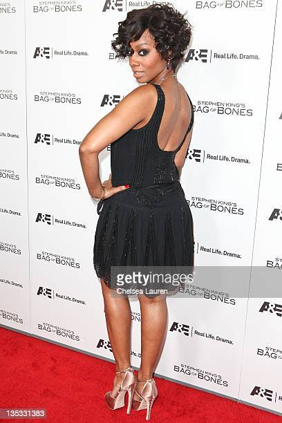 Actress Anika Noni Rose arrives at AE's Original Miniseries Bag of Bones premiere party at Fig Olive Melrose Place on December 8 2011 in West...
