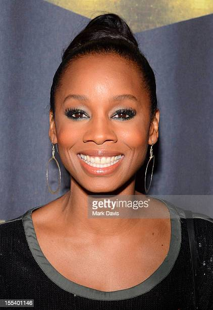 "Actress Anika Noni Rose arrives at Spike TV's ""Eddie Murphy: One Night Only"" at the Saban Theatre on November 3, 2012 in Beverly Hills, California."