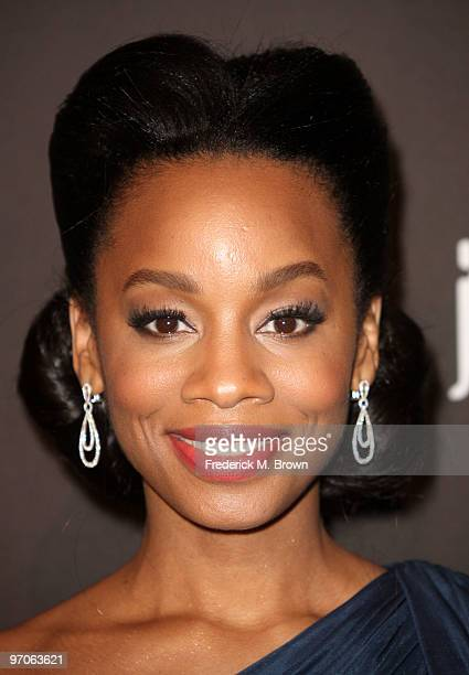 Actress Anika Noni Rose arrives at the 12th Annual Costume Designers Guild Awards with Presenting Sponsor Swarovski at The Beverly Hilton hotel on...
