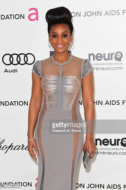 Actress Anika Noni Rose arrives at the 20th Annual Elton John AIDS Foundation's Oscar Viewing Party held at West Hollywood Park on February 26 2012...