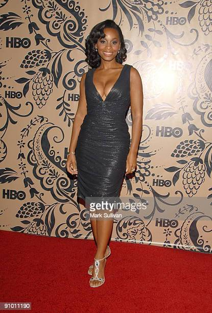 Actress Anika Noni Rose arrives at the HBO Post Emmy Awards Reception at the Pacific Design Center on September 20 2009 in West Hollywood California