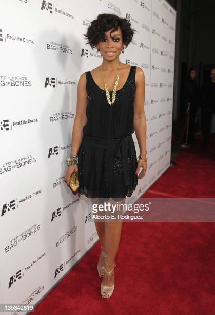 Actress Anika Noni Rose attends AE's premiere party event for Stephen King's Bag of Bones at Fig Olive Melrose Place on December 8 2011 in West...
