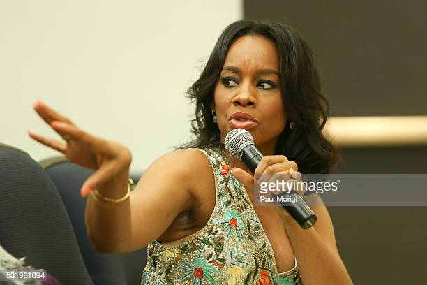 Actress Anika Noni Rose attends as HISTORY brings the 'Roots' cast and Ccrew to The White House for a screening at the Eisenhower Executive Office...
