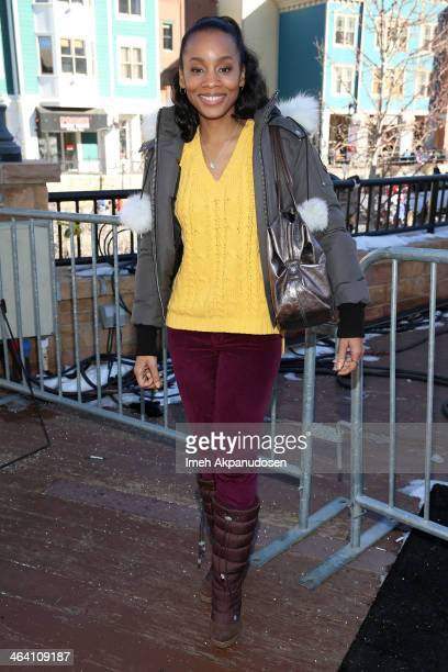 Actress Anika Noni Rose attends day 4 of The Village At The Lift on January 20 2014 in Park City Utah