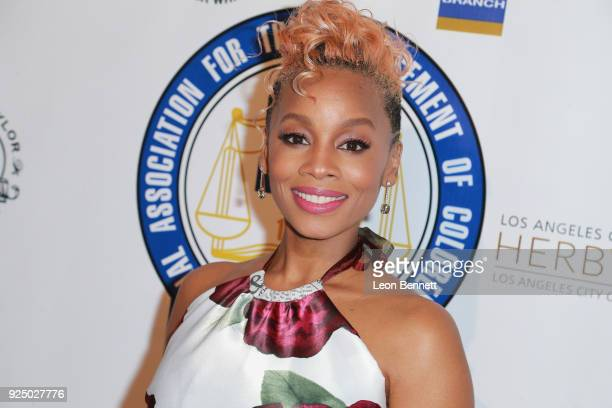 Actress Anika Noni Rose attends the 27th Annual NAACP Theatre Awards at Millennium Biltmore Hotel on February 26 2018 in Los Angeles California