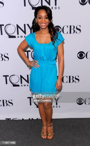 Actress Anika Noni Rose attends the 65th Annual Tony Awards nominations announcement sponsored by IBM at The New York Public Library for the...