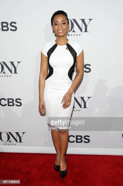 "Actress Anika Noni Rose, nominee for Best Performance by an Actress in a Featured Role in a Play for ""A Raisin in the Sun,"" attends the 2014 Tony..."
