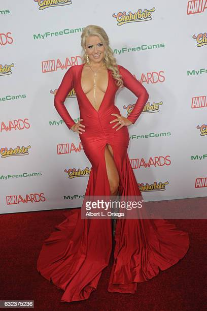 Actress Anikka Albrite arrives at the 2017 Adult Video News Awards held at the Hard Rock Hotel Casino on January 21 2017 in Las Vegas Nevada