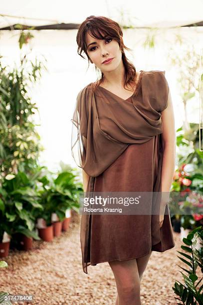 Actress Anita Caprioli is photographed for Self Assignment on January 20 2011 in Rome Italy