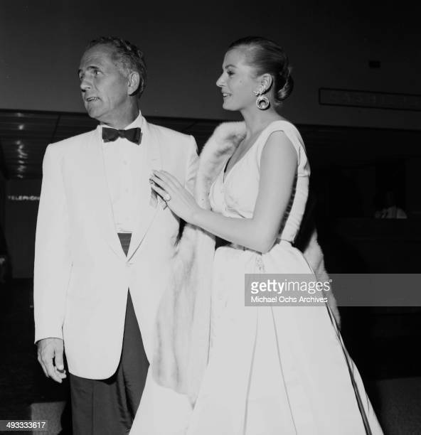 Actress Anita Ekberg and Hal Hays attend a party at the Hilton in Los Angeles California