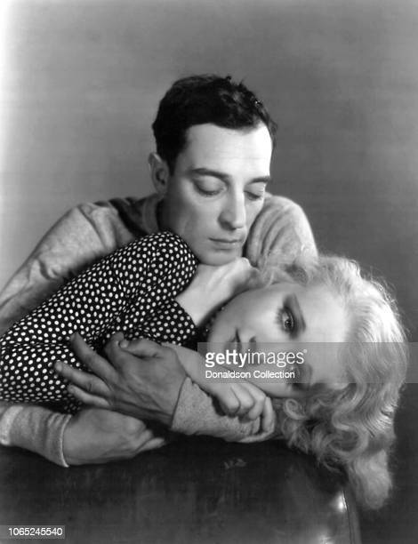 Actress Anita Page and Buster Keaton in a scene from the movie Sidewalks of New York