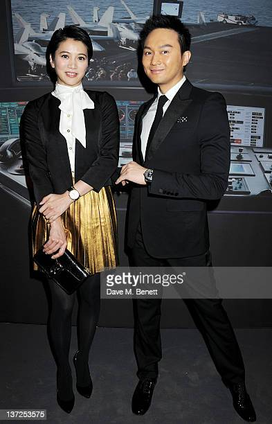 Actress Anita Yuen Cheung and singer Julian Cheung attends the IWC Top Gun Gala Event at 22nd SIHH High Jewellery Fair on at the Palexpo Exhibition...