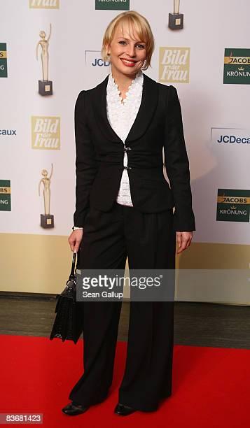 Actress Anja Boche attends the Goldene Bild der Frau 2008 awards at Ullstein Hall on November 13 2008 in Berlin Germany