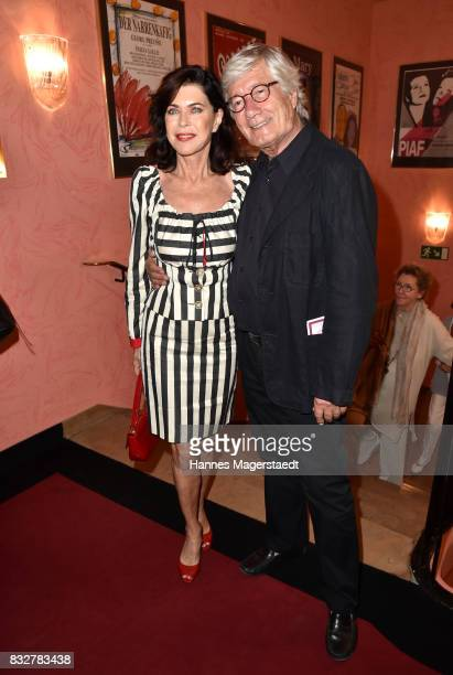 Actress Anja Kruse and Christian Wolff during the 'Aufguss' premiere at Komoedie im Bayerischen Hof on August 16 2017 in Munich Germany