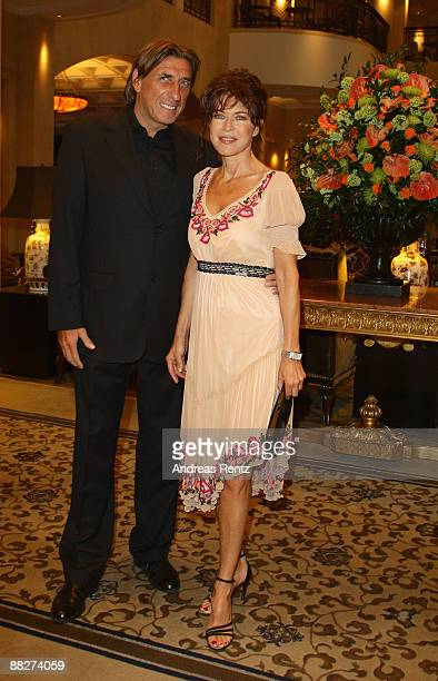 Actress Anja Kruse and Norbert Blecha attend the BMW golf cup International gala at the Adlon Hotel on June 6 2009 in Berlin Germany