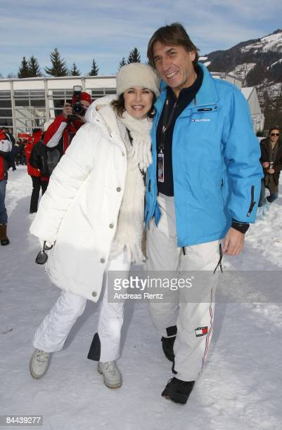 Actress Anja Kruse and Norbert Blecha attend the Hahnenkamm Race weekend on January 24 2009 in Kitzbuehel Austria