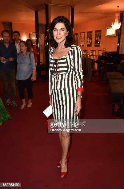 Actress Anja Kruse during the 'Aufguss' premiere at Komoedie im Bayerischen Hof on August 16 2017 in Munich Germany