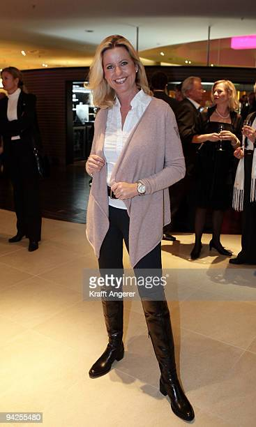 Actress Anja Schuete attends the Radisson Blu Hotel Grand Opening on December 10 2009 in Hamburg Germany