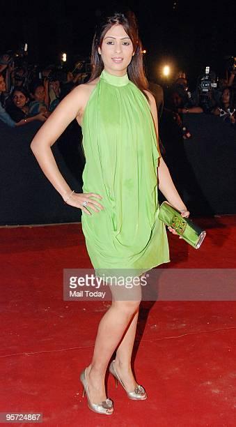 Actress Anjana Sukhani at the Star Screen Awards in Mumbai on Saturday January 9 2010