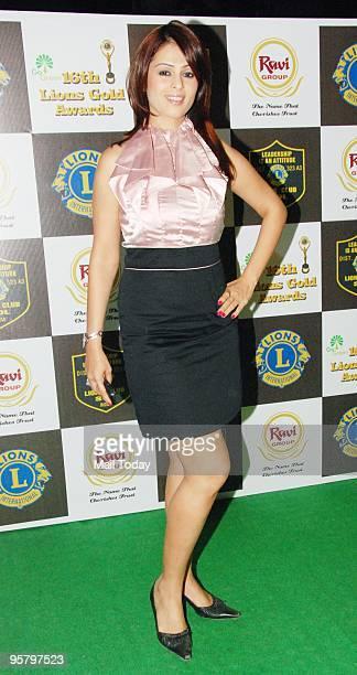 Actress Anjana Sukhani during the 16th Lions Gold Awards ceremony in Mumbai on Thursday in Mumbai on January 14 2010
