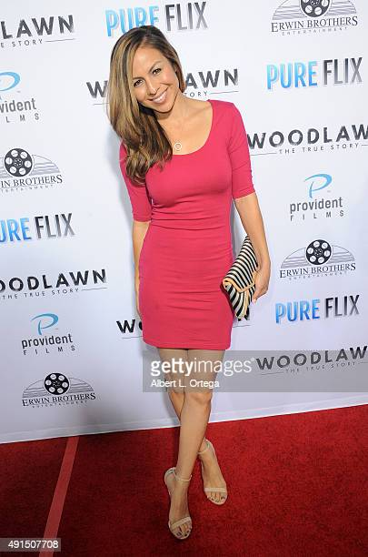 Actress Anjelah Johnson arrives for the LA Premiere Of Pure Flix's 'Woodlawn' held at Regency Bruin Theater on October 5 2015 in Westwood California
