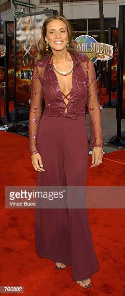 Actress Anjelica Castro attends the premiere of the film 'The Scorpion King' April 17 2002 at Universal Studios in Los Angeles CA