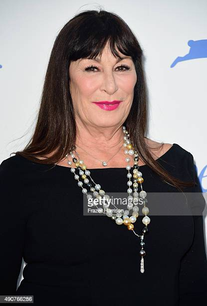 Actress Anjelica Huston arrives at PETA's 35th Anniversary Party at Hollywood Palladium on September 30 2015 in Los Angeles California