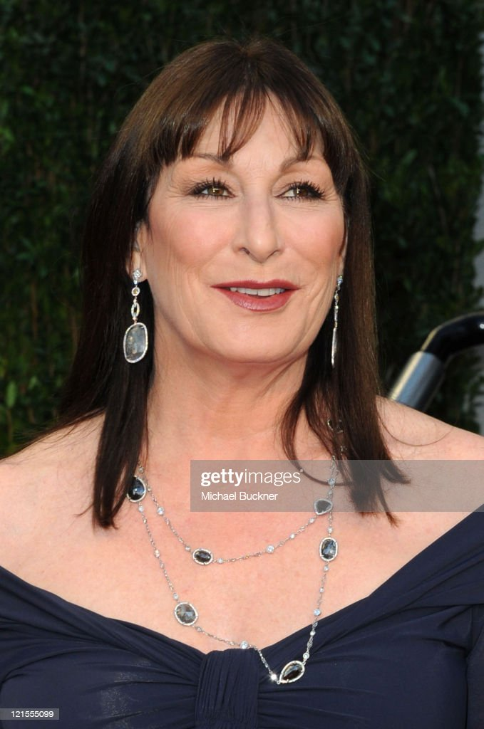 Actress Anjelica Huston arrives at the 2010 Vanity Fair Oscar Party hosted by Graydon Carter held at Sunset Tower on March 7, 2010 in West Hollywood, California.