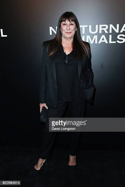 Actress Anjelica Huston arrives at the screening of Focus Features' 'Nocturnal Animals' at the Hammer Museum on November 11 2016 in Westwood...