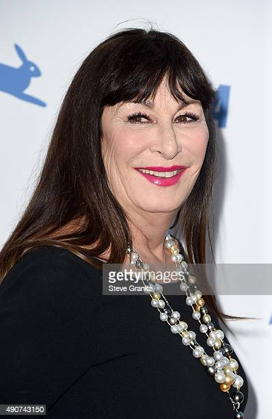 Actress Anjelica Huston attends PETA's 35th Anniversary Party at Hollywood Palladium on September 30 2015 in Los Angeles California