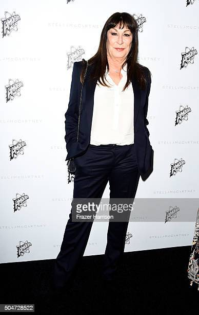 Actress Anjelica Huston attends Stella McCartney Autumn 2016 Presentation at Amoeba Music on January 12 2016 in Los Angeles California