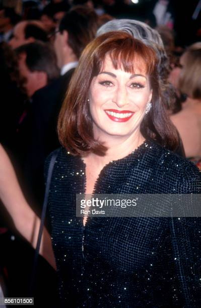 Actress Anjelica Huston attends the 64th Annual Academy Awards on March 30 1992 at the Dorothy Chandler Pavilion Music Center in Los Angeles...