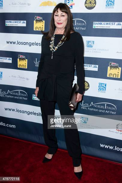 Actress Anjelica Huston attends the 9th Annual LA Italia Film Fashion and Art's Festival closing night awards ceremony hosted at the TCL Chinese...
