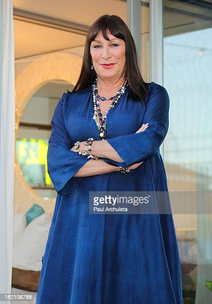 Actress Anjelica Huston attends the Airbnb Presentation of Hello LA with celebrity designed popups at The Cooks Garden by HGEL on September 27 2013...