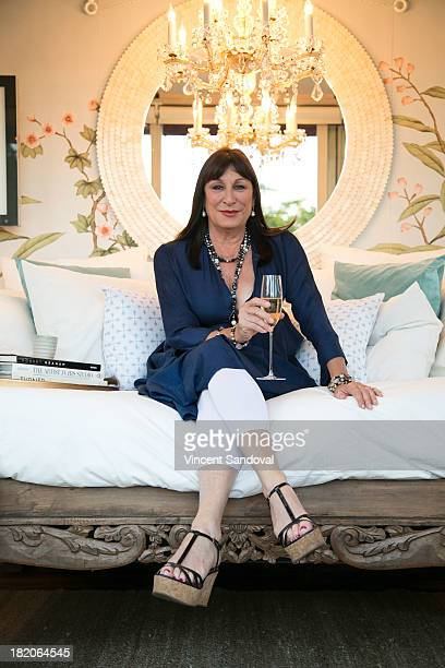 Actress Anjelica Huston attends the Airbnb presents Hello LA with celebrity designed pop ups Anjelica Huston at The Cooks Garden by HGEL on September...