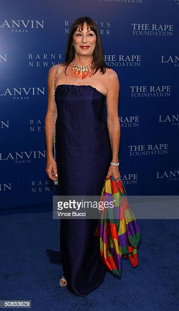 Actress Anjelica Huston attends the Fall 2004 Lanvin Fashion Show benefiting the Rape Foundation on May 12 2004 at the Barneys New York store in...