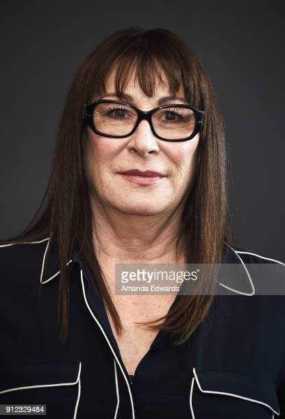Actress Anjelica Huston donates her old fur coats to PETA so that they can be recycled and cut into bedding for orphaned wildlife at PETA's Bob...