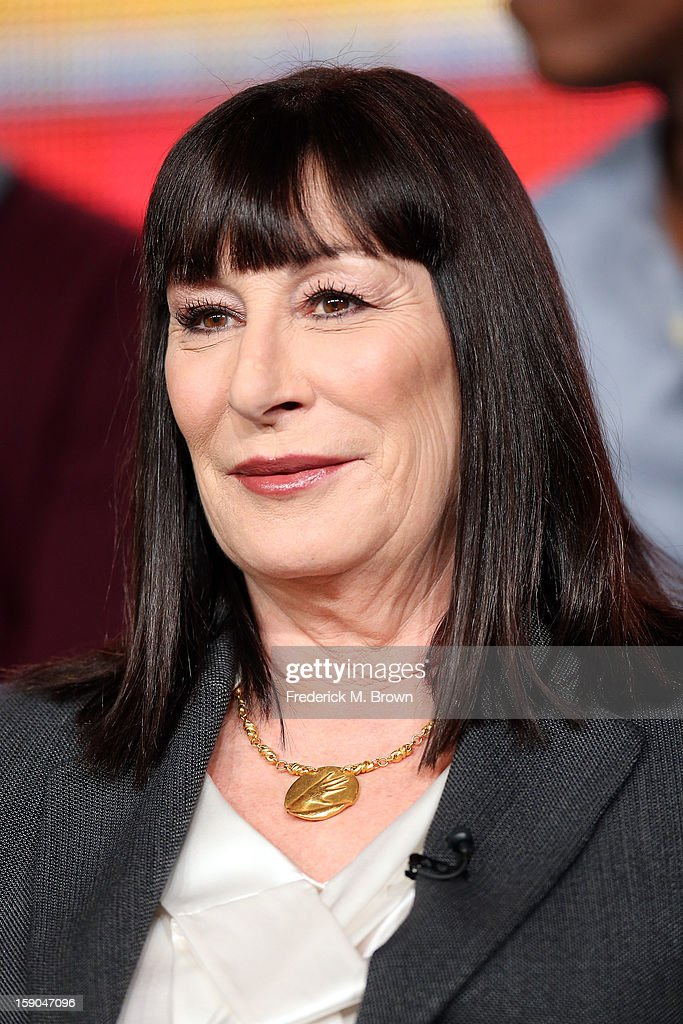 Actress Anjelica Huston onstage at the 'Smash' panel discussion during the NBCUniversal portion of the 2013 Winter TCA Tour- Day 3 at the Langham Hotel on January 6, 2013 in Pasadena, California.