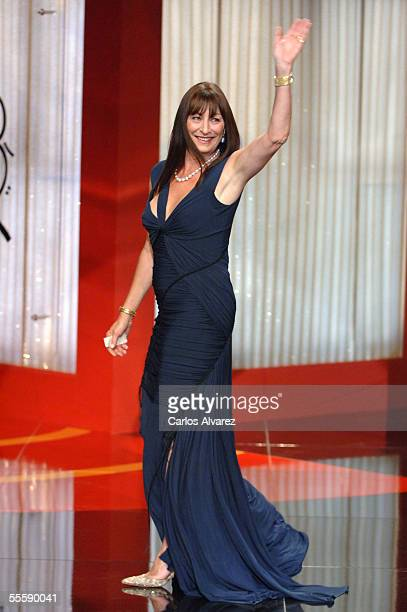 Actress Anjelica Huston, president of the official Jury attends the opening night ceremony of the 53rd San Sebastian International Film Festival on...