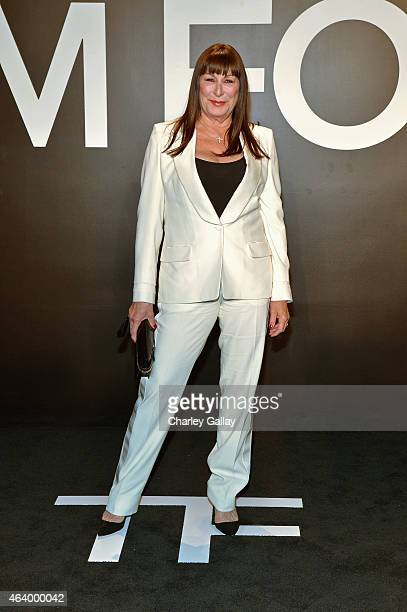 Actress Anjelica Huston wearing TOM FORD attends the TOM FORD Autumn/Winter 2015 Womenswear Collection Presentation at Milk Studios in Los Angeles on...