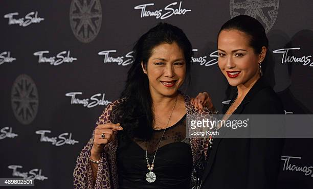 Actress Ankie Beilke and her mother Ankie Lau attend the Thomas Sabo Karma Night at Postpalast on February 15 2014 in Munich Germany