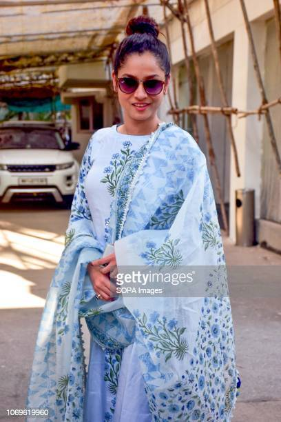 Actress Ankita Lokhande seen before dubbing for her debut film 'Manikarnika' at Sunny Super Sound Juhu in Mumbai