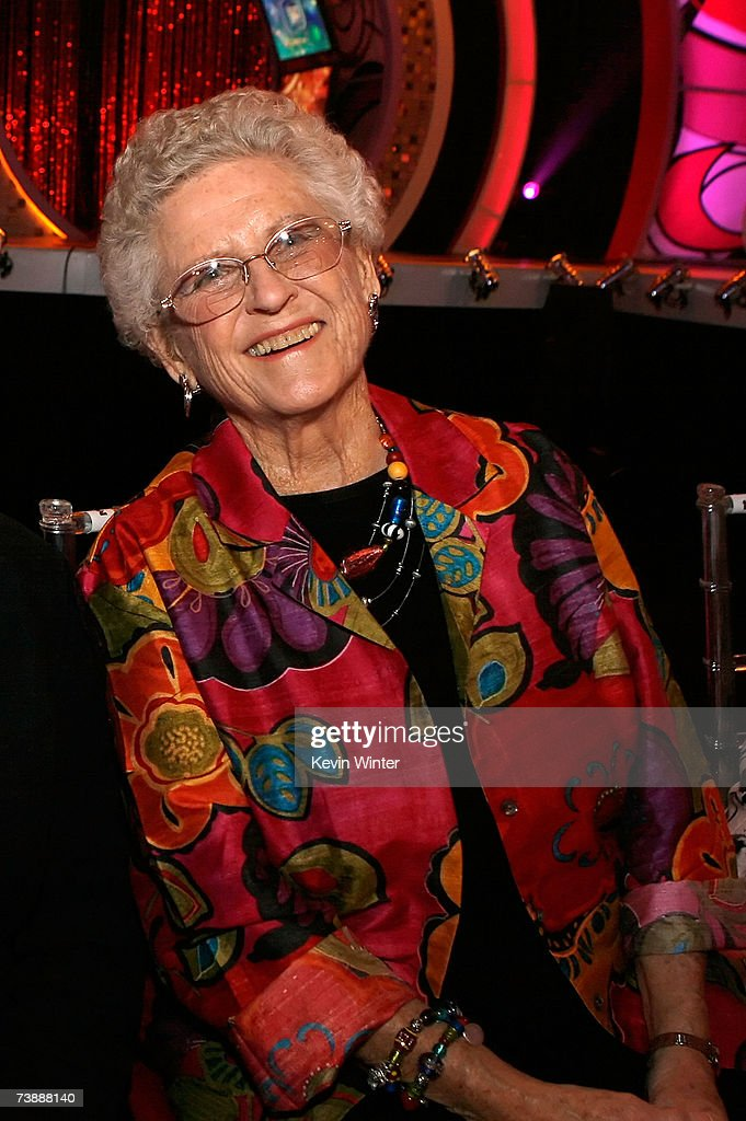 Actress Ann B. Davis poses for photos in the audience of the 5th Annual TV Land Awards held at Barker Hangar on April 14, 2007 in Santa Monica, California.